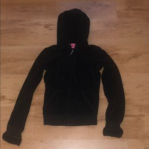 Juicy Couture Black Terry Cloth Jacket
